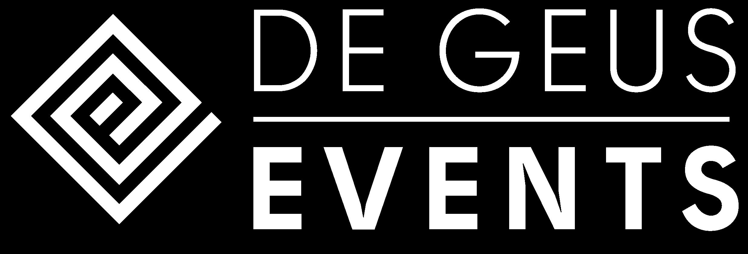 De Geus Events Logo Wit