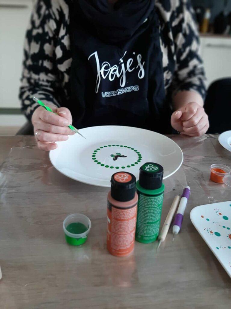 De Geus Events workshops keramiek dotpainten